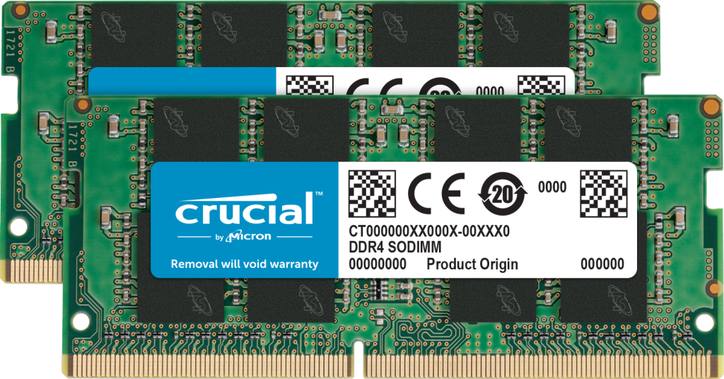 Crucial 64GB Kit (2 x 32GB) DDR4-2666 SODIMM- view 1