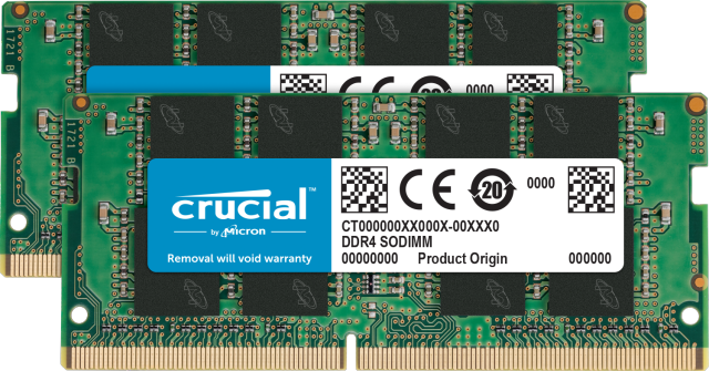 Crucial 64GB Kit (2 x 32GB) DDR4-2666 SODIMM