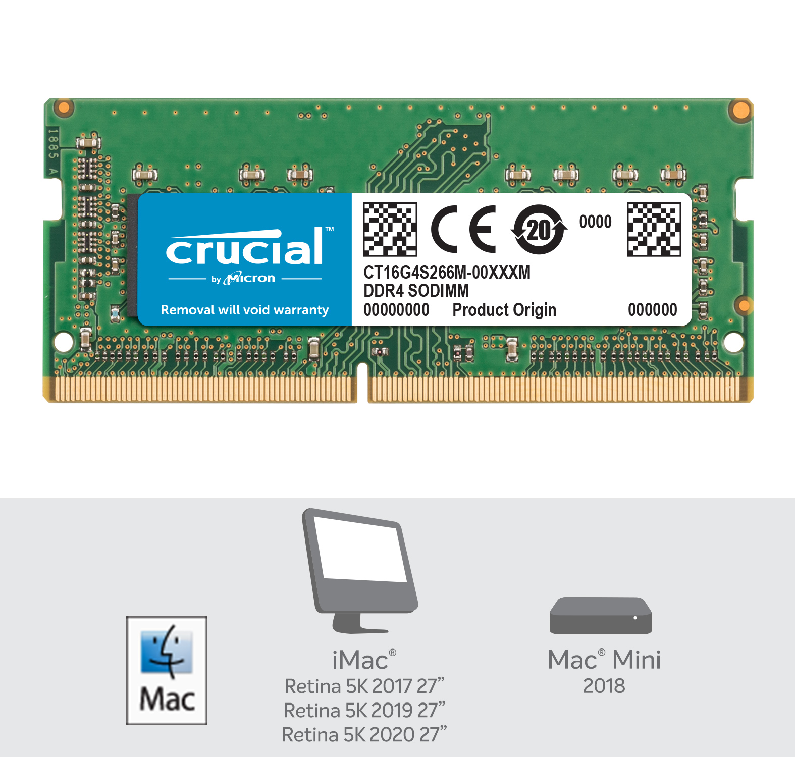 Crucial 16GB DDR4-2666 SODIMM Memory for Mac- view 2