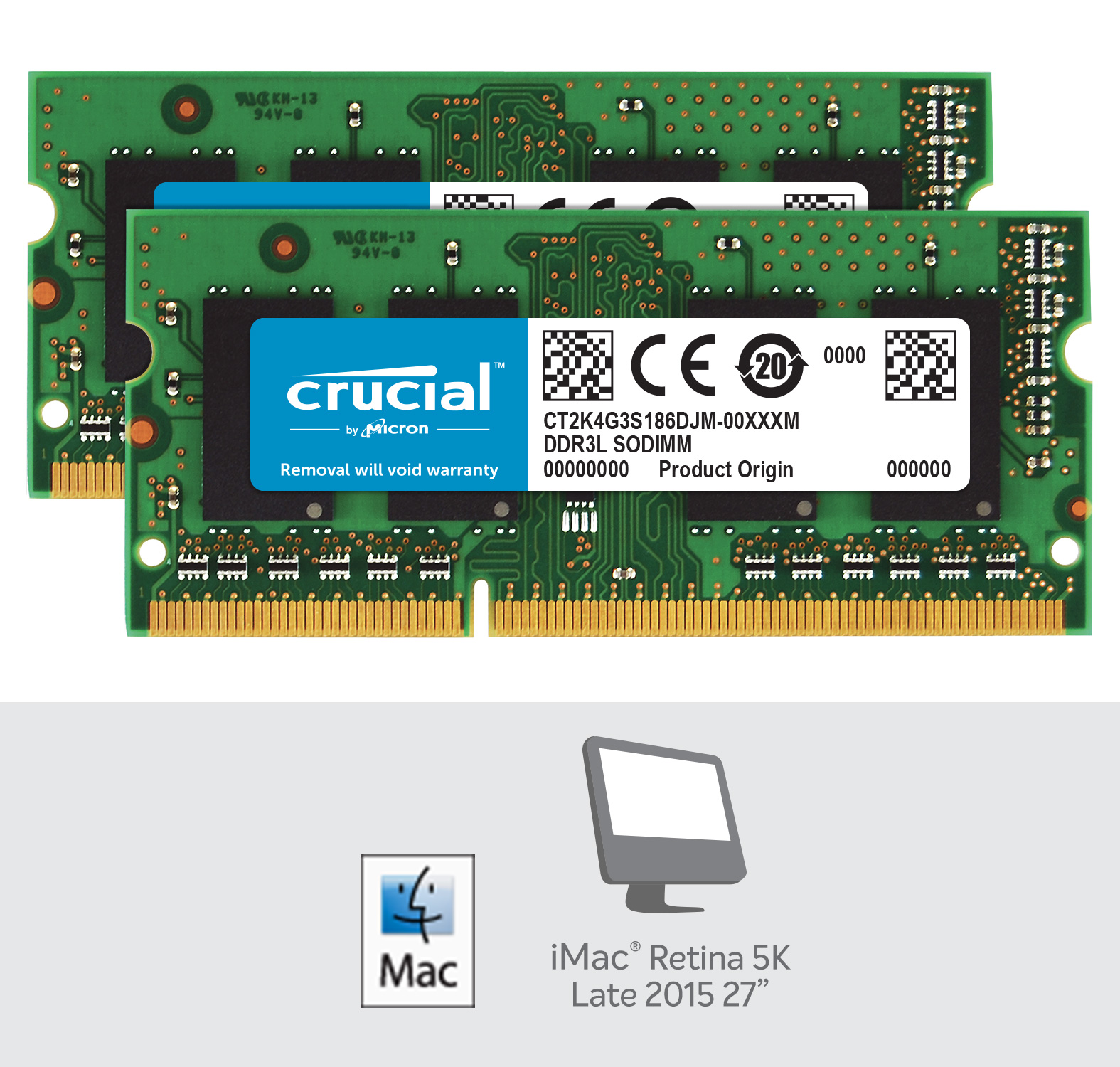 Crucial 8GB Kit (4GBx2) DDR3L-1866 SODIMM for Mac- view 2