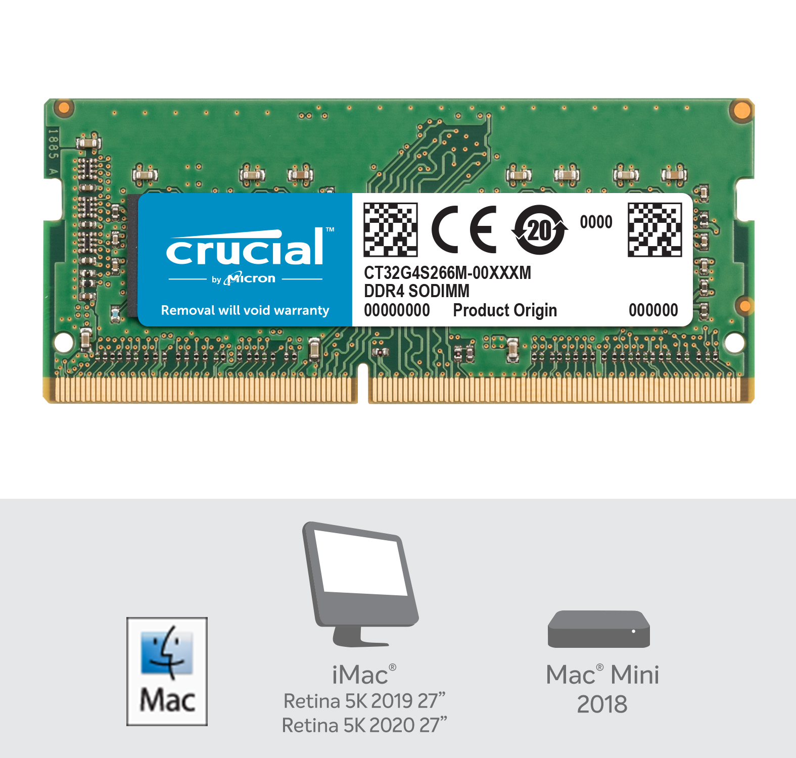 Crucial 32GB DDR4-2666 SODIMM Memory for Mac- view 2