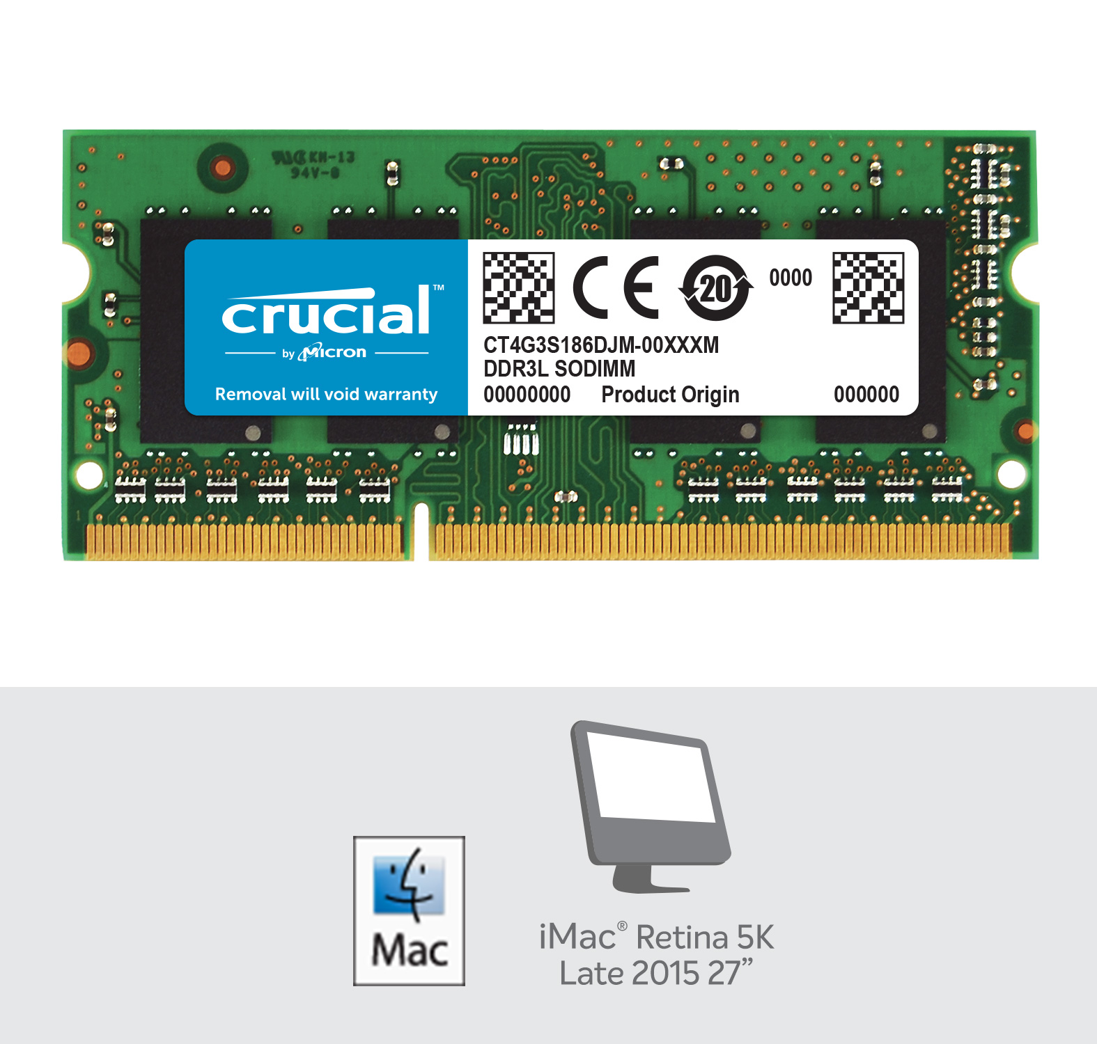 Crucial 4GB DDR3L-1866 SODIMM Memory for Mac- view 2