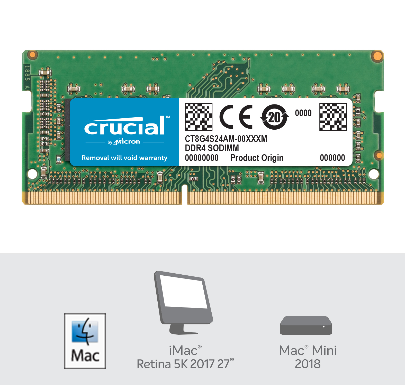Crucial 8GB DDR4-2400 SODIMM Memory for Mac- view 2