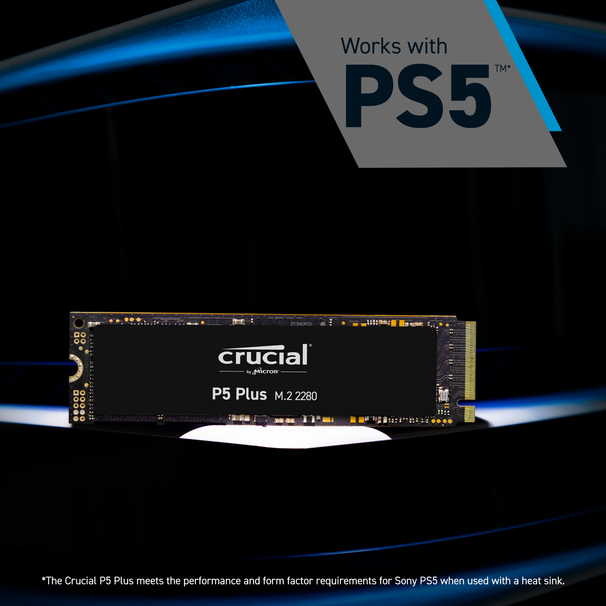 Crucial P5 Plus 1TB PCIe M.2 2280SS SSD- view 4